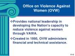 office on violence against women ovw