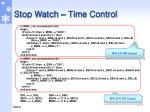 stop watch time control4
