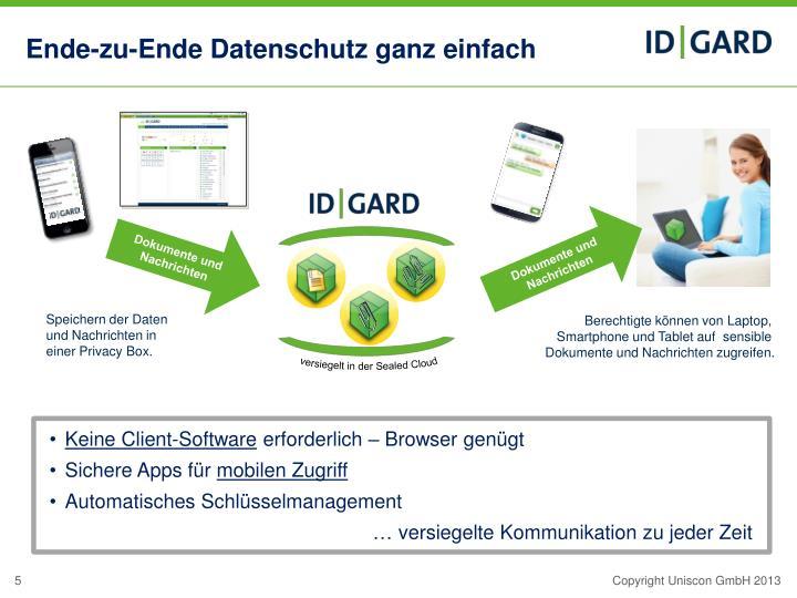 Ende-zu-Ende Datenschutz ganz einfach