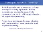 learning and educational technology