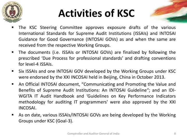Activities of KSC
