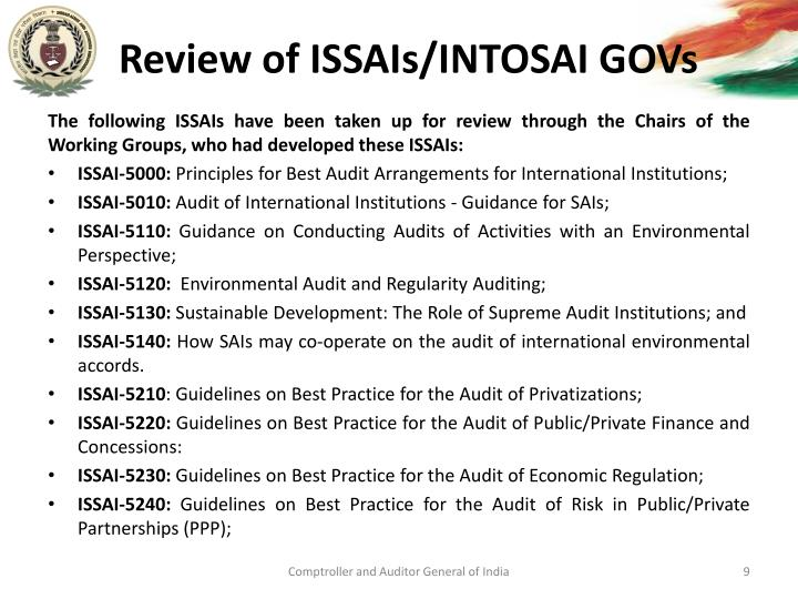 Review of ISSAIs/INTOSAI GOVs
