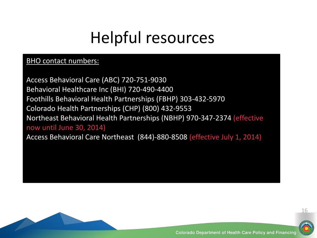 PPT - Behavioral Health Organizations (overview) PowerPoint