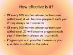 how effective is it