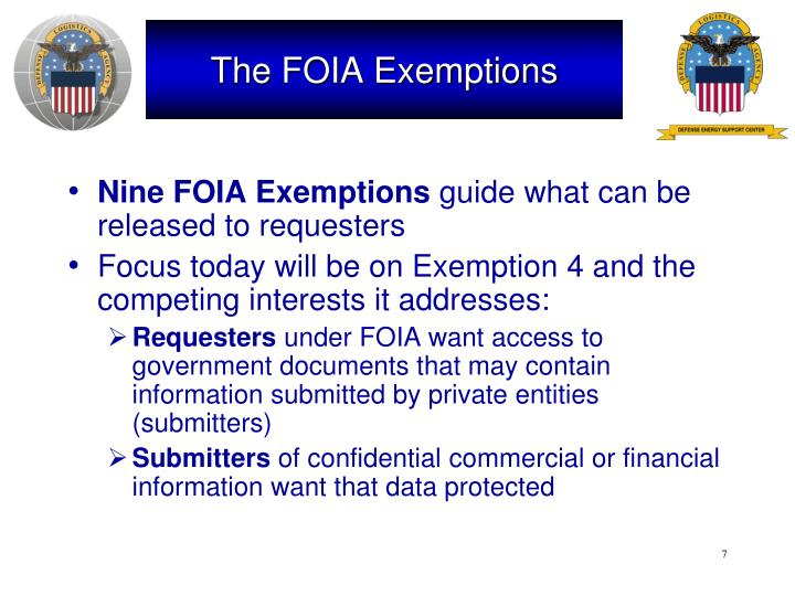 The FOIA Exemptions