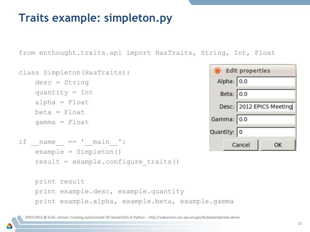 PPT - Creating quick/simple QT-based GUIs in Python PowerPoint