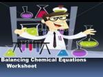 balancing chemical equations worksheet