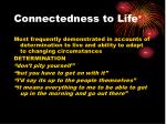 connectedness to life