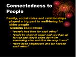 connectedness to people