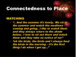 connectedness to place1