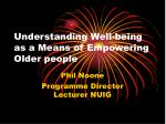 understanding well being as a means of empowering older people