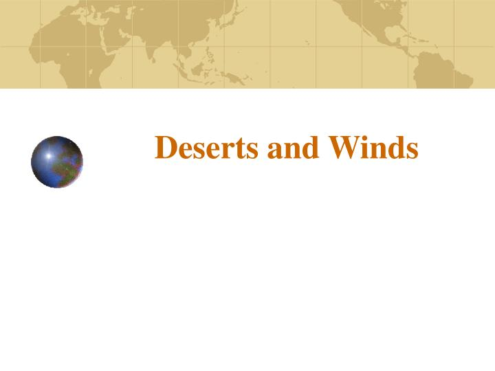 deserts and winds n.