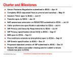 charter and milestones