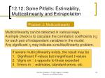 12 12 some pitfalls estimability multicollinearity and extrapolation4