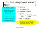 12 3 evaluating overall model utility7