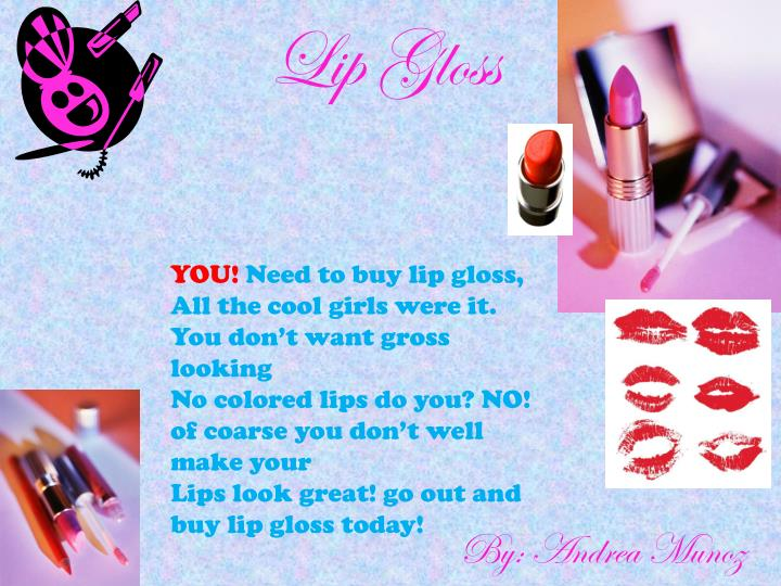Ppt Lip Gloss Powerpoint Presentation Free Download Id
