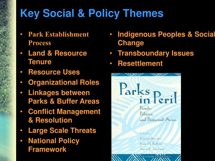 Key Social & Policy Themes