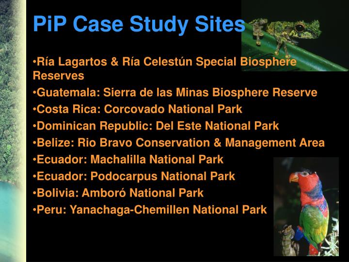 PiP Case Study Sites