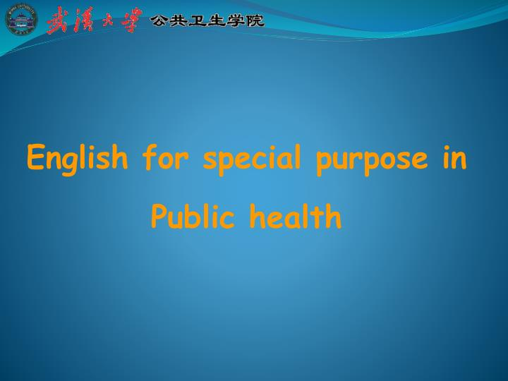 english for special purpose in public health n.