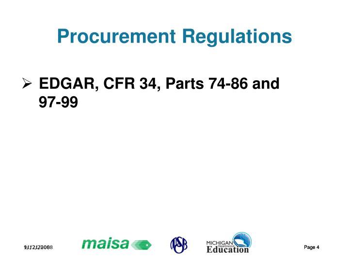 Procurement Regulations