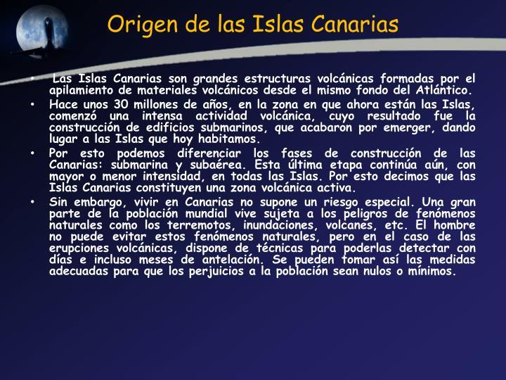Origen de las Islas Canarias