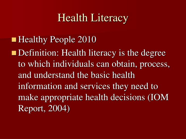 degree well being literacy