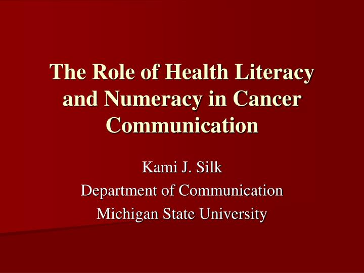 role of communication in health and This interactive training will focus on enhancing communication skills in working with a variety of audiences topics will include strategies to improve written and verbal communications, presentations skills, health literacy.