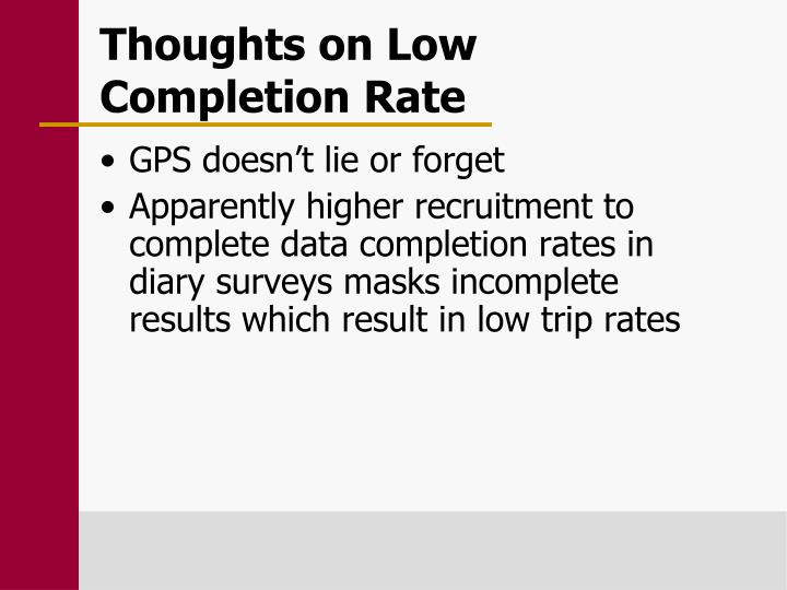 Thoughts on Low Completion Rate