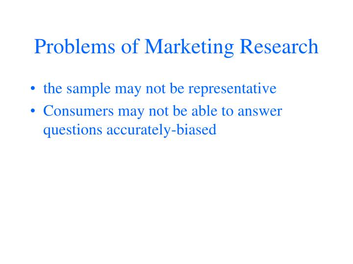 Problems of Marketing Research