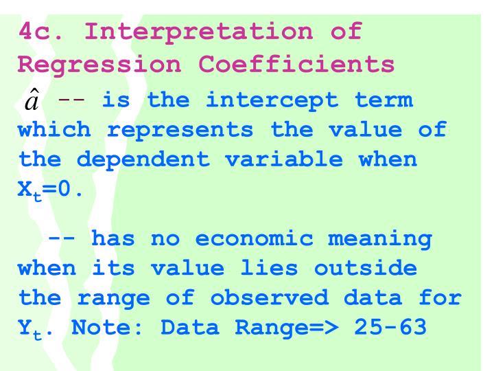 4c. Interpretation of Regression Coefficients