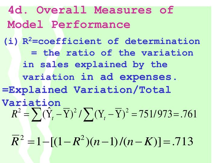 4d. Overall Measures of Model Performance