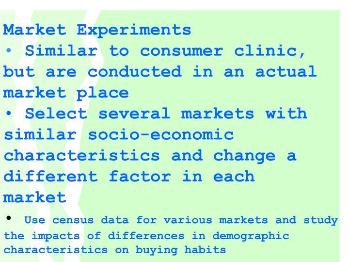 Market Experiments