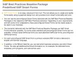 sap best practices baseline package predefined sap smart forms