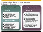 solution builder edges of user spectrum definition example