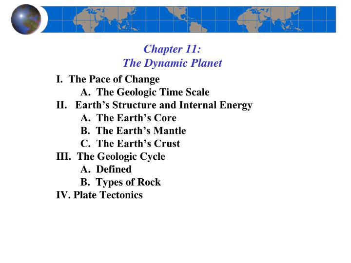 chapter 11 the dynamic planet n.