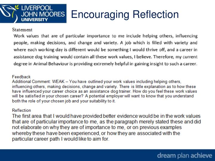 Encouraging Reflection
