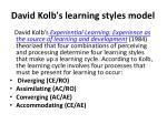 david kolb s learning styles model
