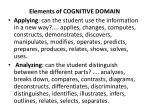 elements of cognitive domain1