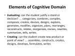 elements of cognitive domain2