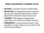 honey mumford s learning styles