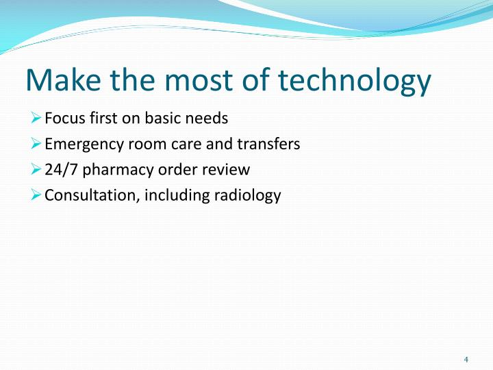 Make the most of technology