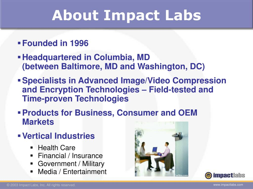 PPT - Impact Labs PowerPoint Presentation - ID:5906184