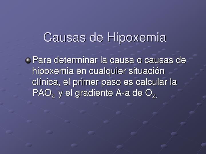 Causas de Hipoxemia