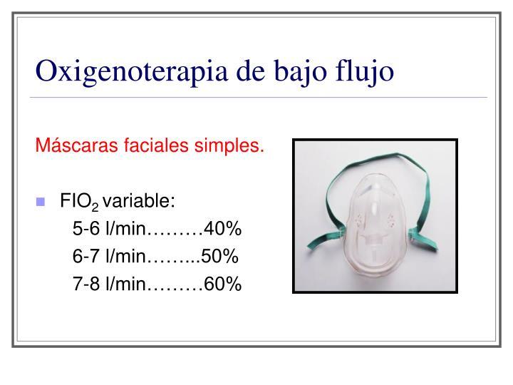 Oxigenoterapia de bajo flujo
