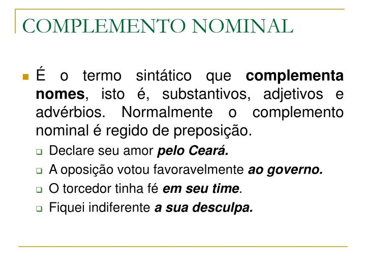COMPLEMENTO NOMINAL