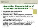 appendix characteristics of constructive feedback yellow