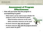 assessment of program effectiveness