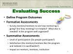 evaluating success