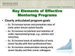 key elements of effective mentoring programs