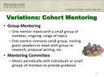 variations cohort mentoring